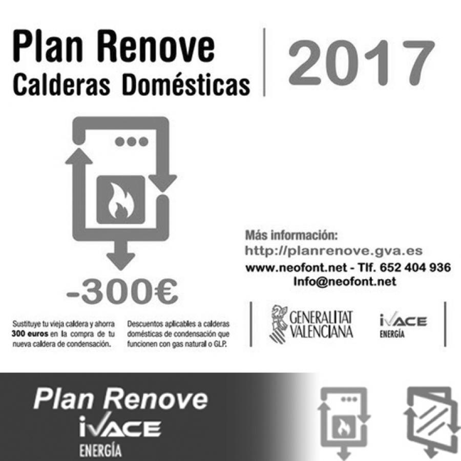 Plan Renove de calderas Valencia 2017