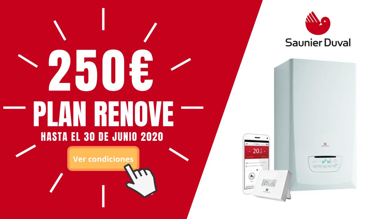 PLAN RENOVE CALDERAS SAUNIER DUVAL +250€
