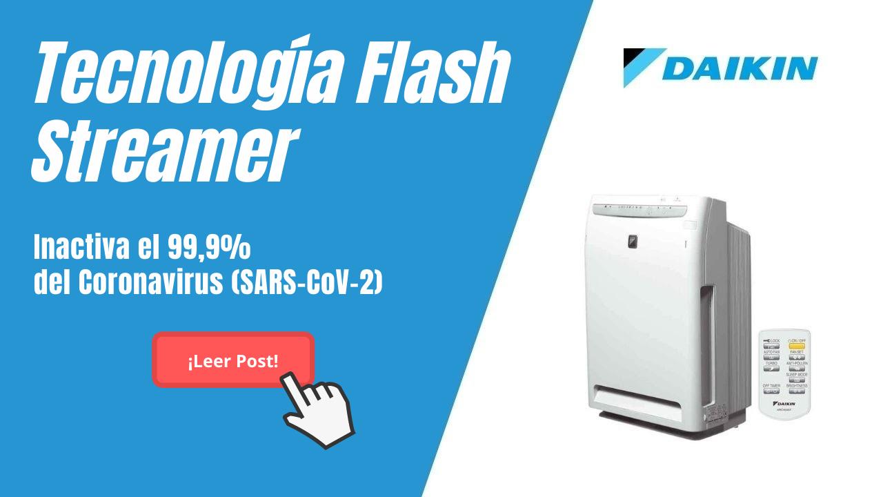 La tecnología Flash Streamer, patentada por Daikin, inactiva el 99,9% del Coronavirus (SARS-CoV-2)
