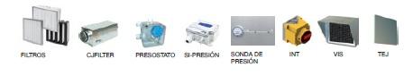 Accesorios Unidad de Filtración Sodeca SV-FILTER