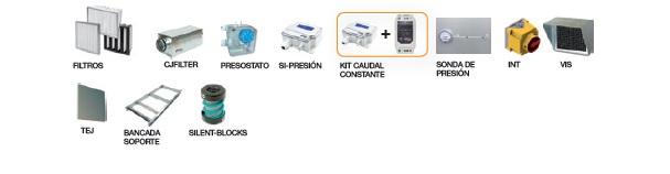 Accesorios Unidad de Filtración Sodeca UFX