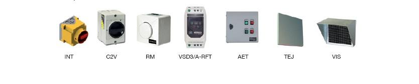 Accesorios Unidades de Ventilación Sodeca CJBD-F