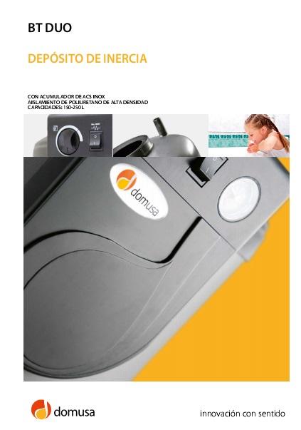 Catalogo deposito de inercia Domusa BT DUO