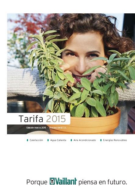 Catalogo tarifa Vaillant Mar-2015