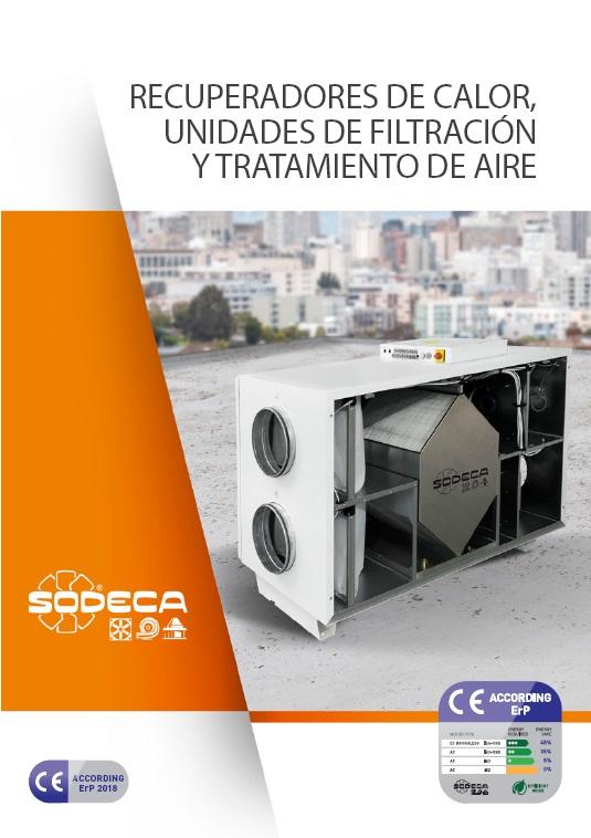 Catálogo Recuperadores y  Filtración Sodeca 2018