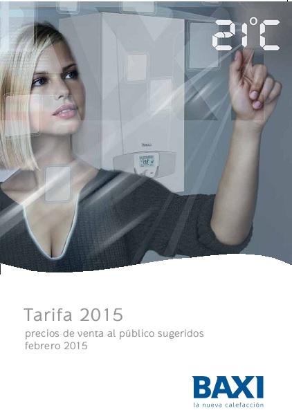 Catalogo tarifa Baxi 2015