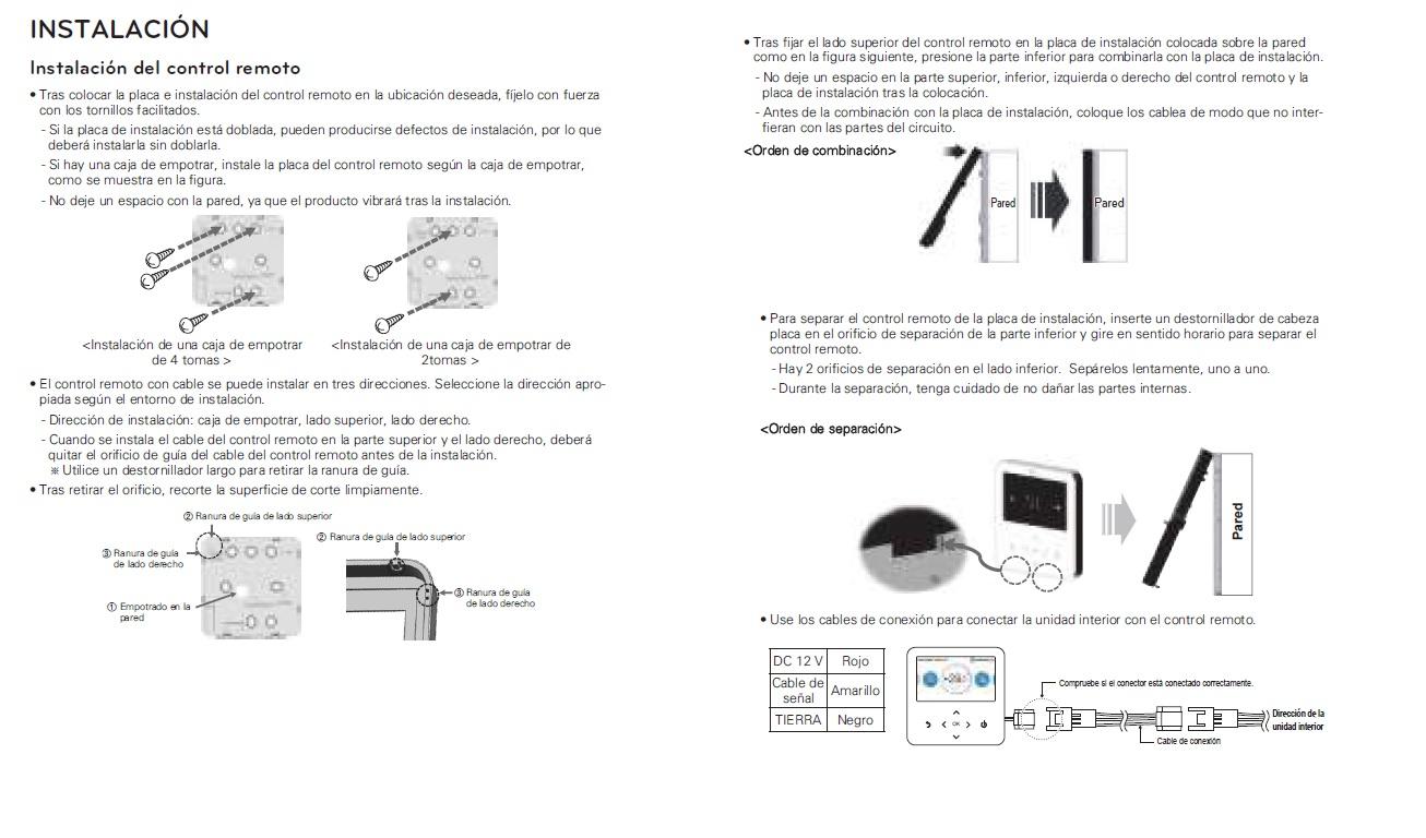 Instalación del Control eStandar LG PREMTB100