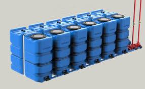 Instalación depósitos de agua en Batería Schutz