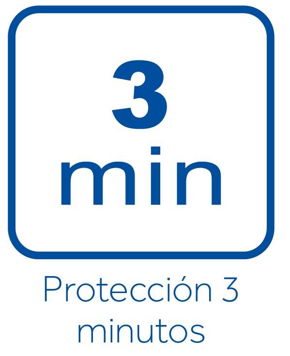 Protección 3 minutos