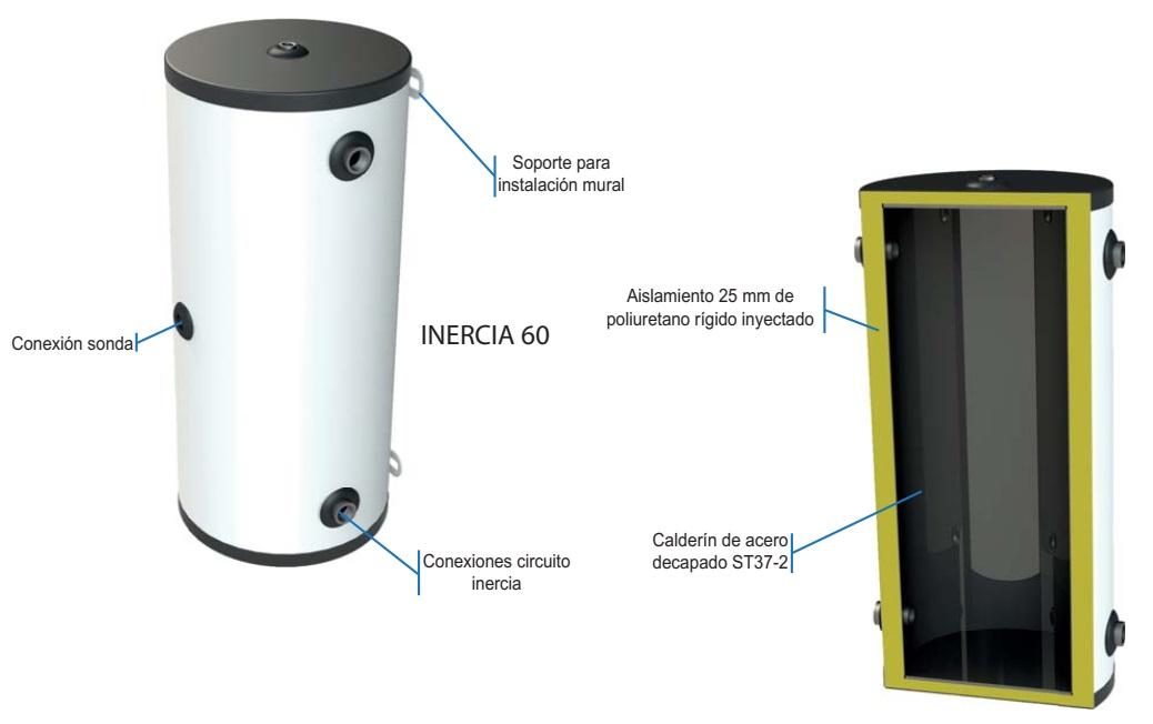 Acumulador Gasfriocalor INERCIA 60 100 - Interior