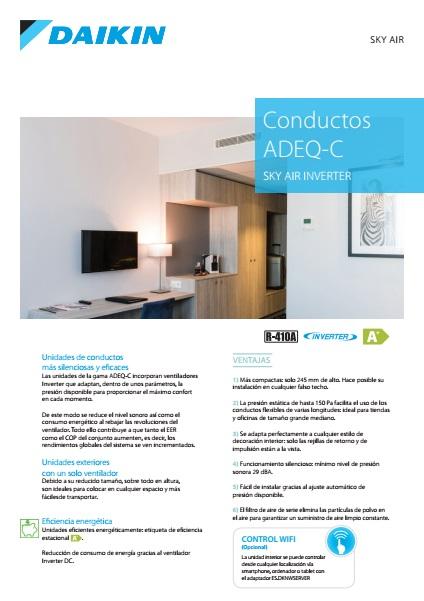 Aire Acondicionado Conductos Daikin ADEQS-C - Ficha de producto