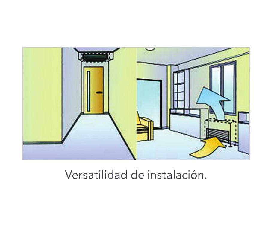 Aire Acondicionado Conductos Fujitsu ACY UiA-LL - Versatilidad de instalacion