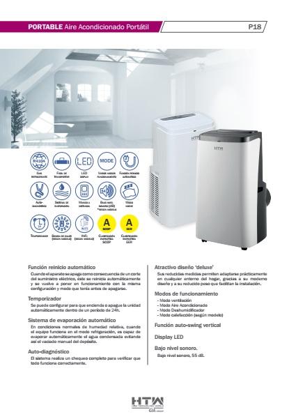 Aire Acondicionado portátil HTW P18 - Ficha de producto
