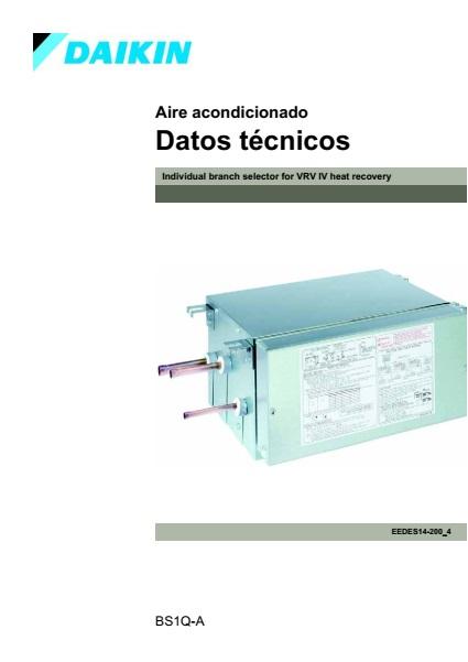 Caja de recuperación individual Daikin BS1Q A - Datos técnicos