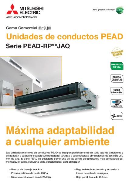 Catalogo comercial  Mitsubishi  Conductos PEZS-Power Inverter