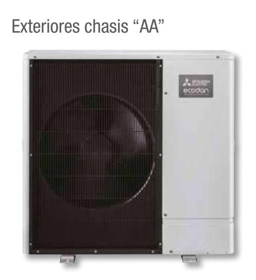 Bomba de calor Mitsubishi Unidad Exterior ECODAN - Chasis AA