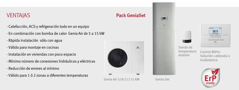 Bomba de calor Saunier Duval Pack Genia Set - Ventajas