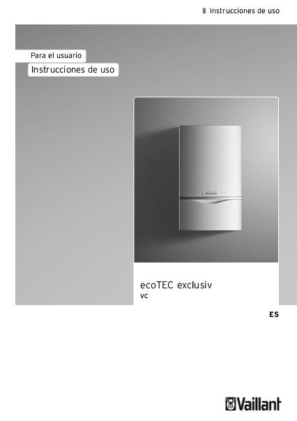 Instrucciones de uso Caldera Vaillant ecoTEC EXCLUSIV