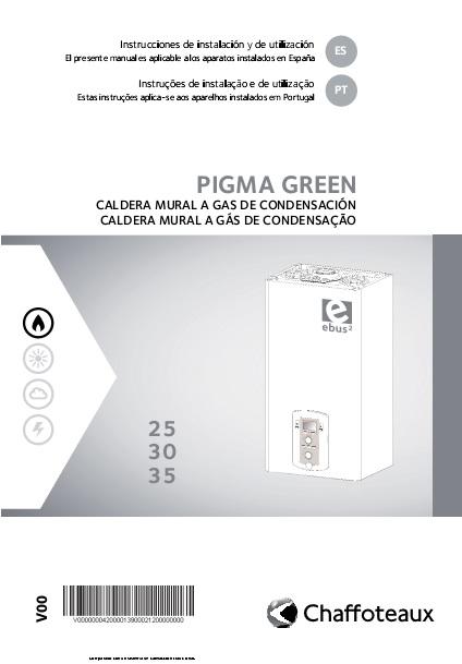 Manual Instalación Caldera Chaffoteaux PIGMA GREEN