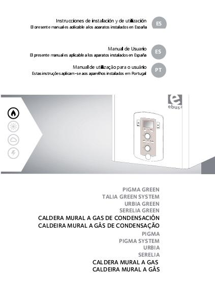 Manual Usuario Caldera Chaffoteaux PIGMA GREEN