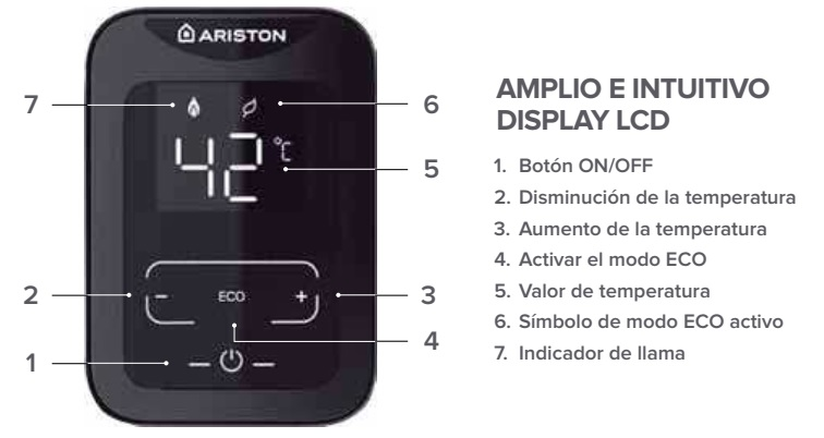 Calentador a gas Ariston NEXT EVO X SFT - Display