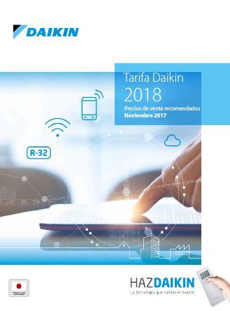 Catalogo tarifa Daikin 2018