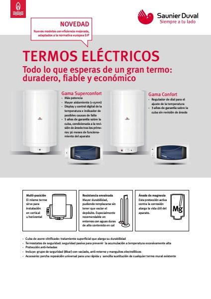 Termo eléctrico Saunier Duval  - Ficha de producto