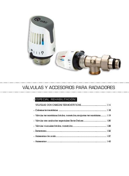 Catalogo Valvulas termostaticas Orkli
