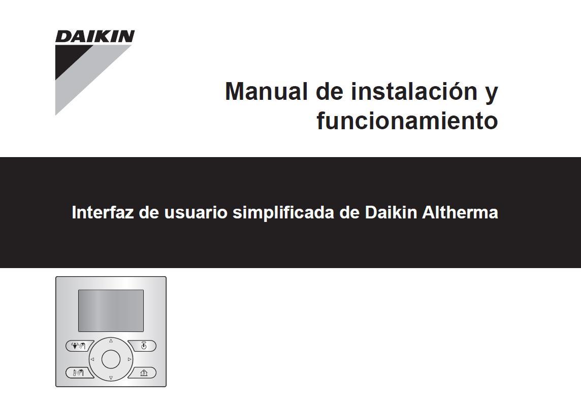 Control Simplificado Daikin EKRUCBS - Manual