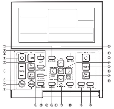 dESCRIPCIÓN Control remoto con cable Samsung MWR-WE13N