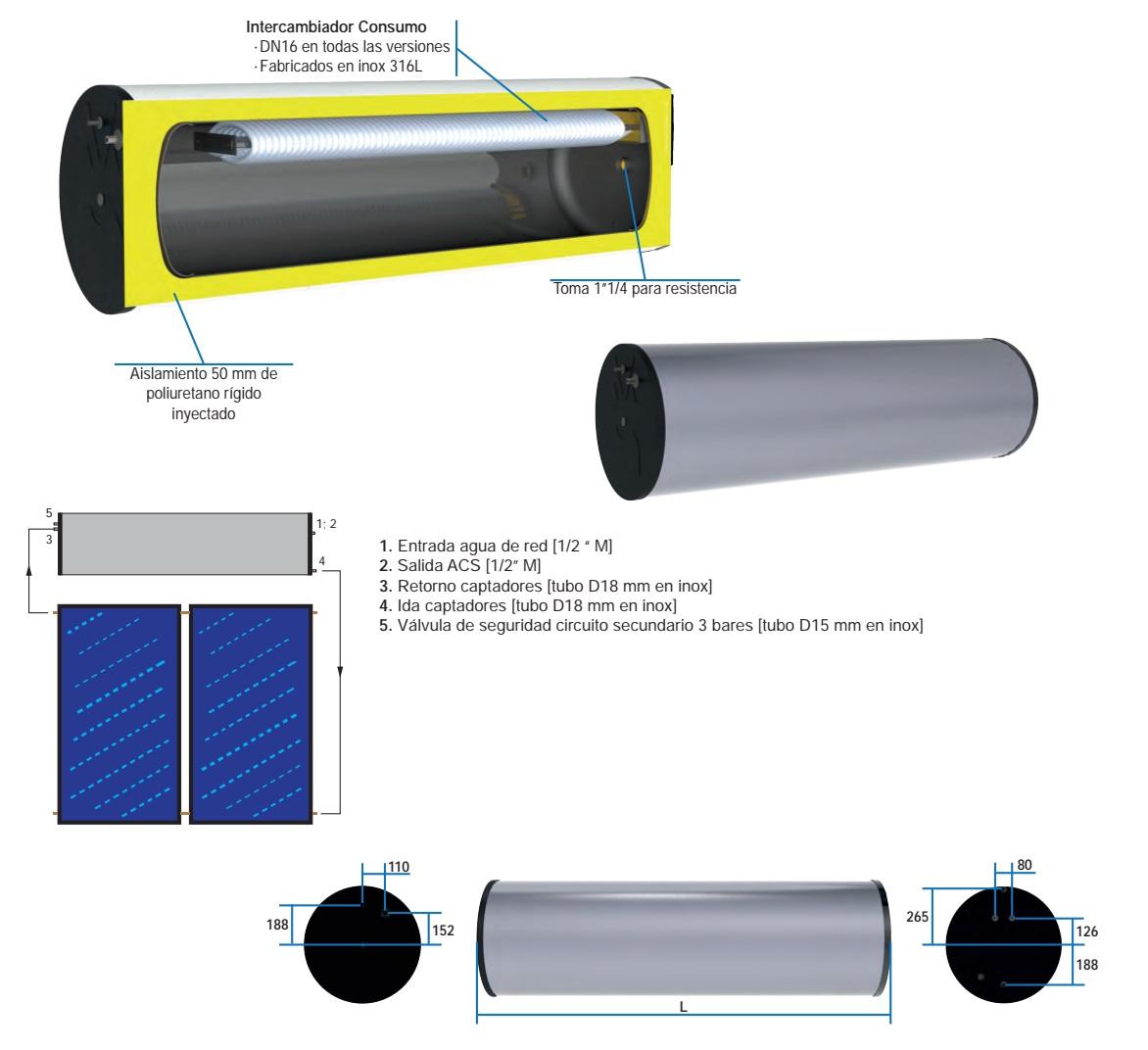 Acumulador solar HS 150