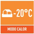 modo calor -20