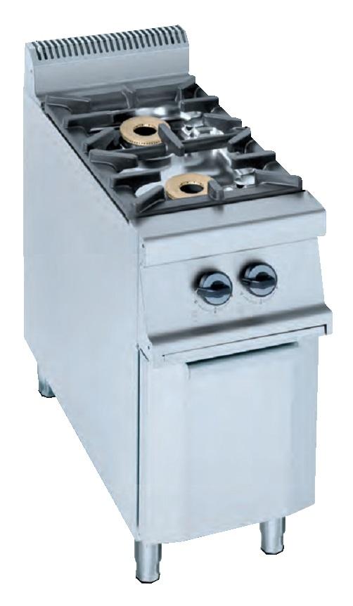 Cocina sobre soporte con puertas a gas eurast 3504 2 fuegos - Cocina dos fuegos gas ...