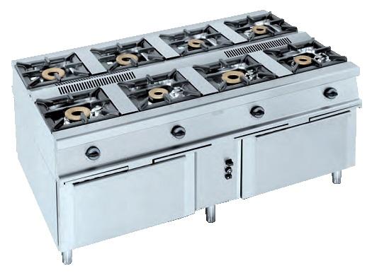 Elegant Cocina Central Eurast 4007   4 Fuegos
