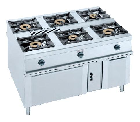 Cocina central eurast 4012 6 fuegos for Cocina 6 fuegos repagas