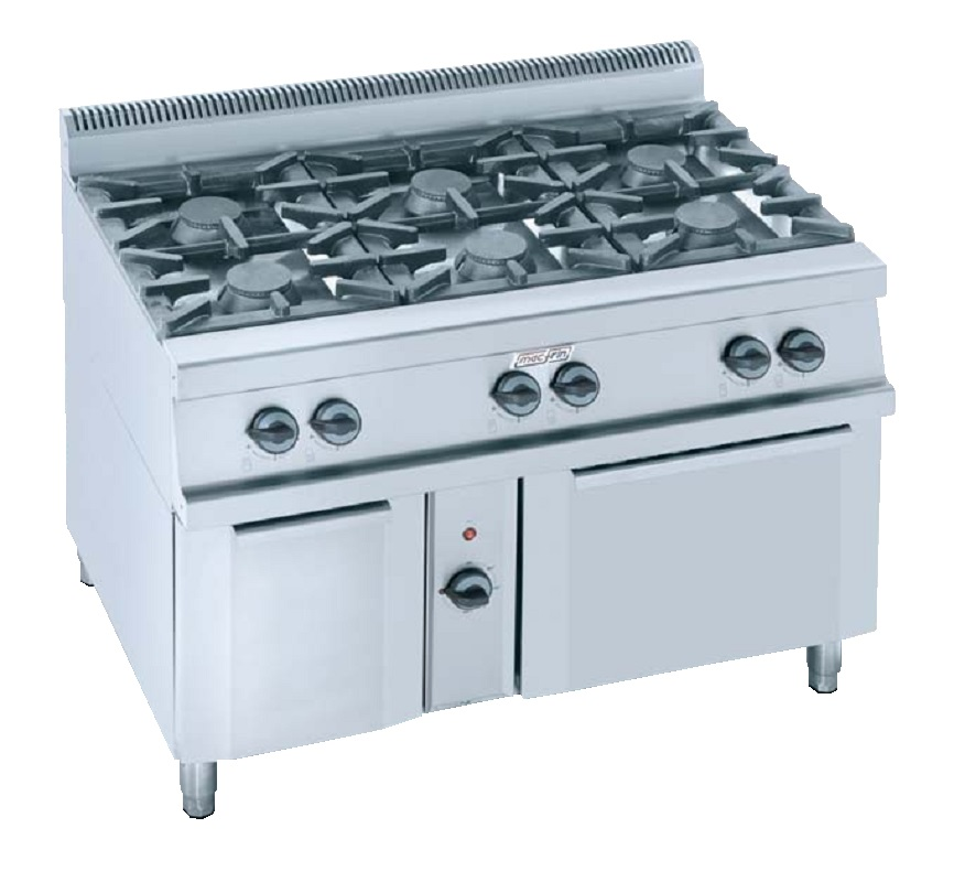 Cocina con horno a gas eurast 3502 6 fuegos - Cocina con horno ...