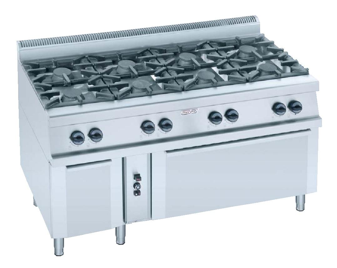 Cocina con horno a gas eurast 3593 8 fuegos - Cocina con horno ...