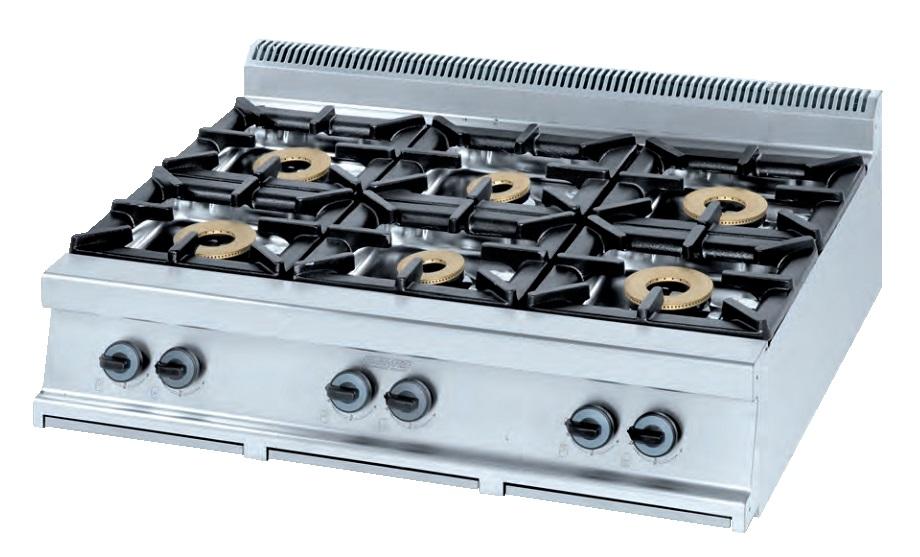 Cocina de sobremesa Eurast 3406S - 6 fuegos