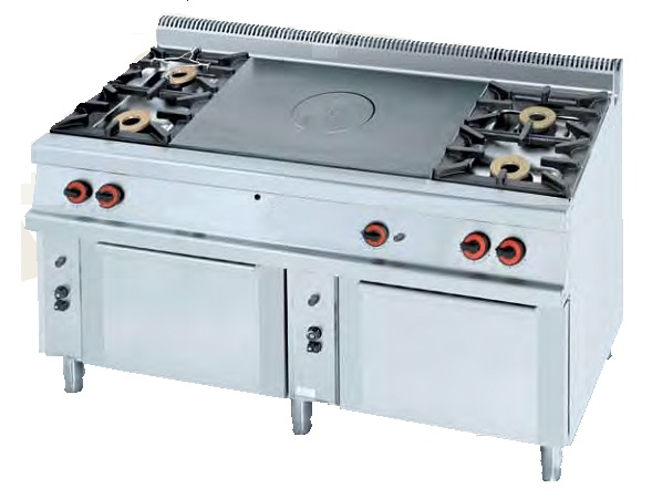 Cocina plancha a gas eurast 5013 5 fuegos for Cocinas 5 fuegos gas
