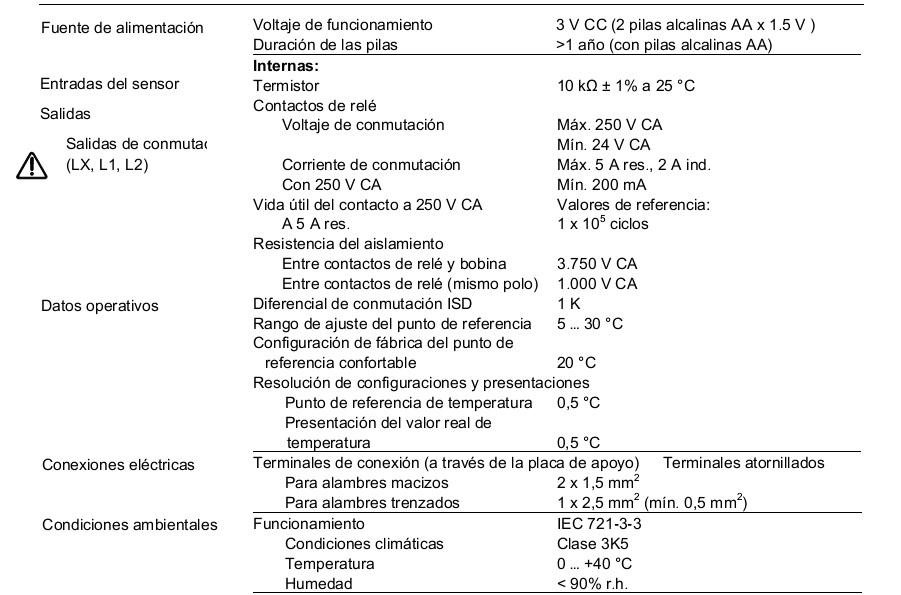 Termostato ambiente digital siemens rdh 10 - Programador calefaccion siemens ...