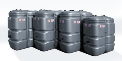 Deposito sch tz de gasoil tank in tank 1500l for Depositos de agua 1000 litros