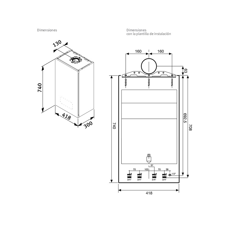 Caldera a gas de condensaci n saunier duval semia condens 30 - Calderas para gas natural ...