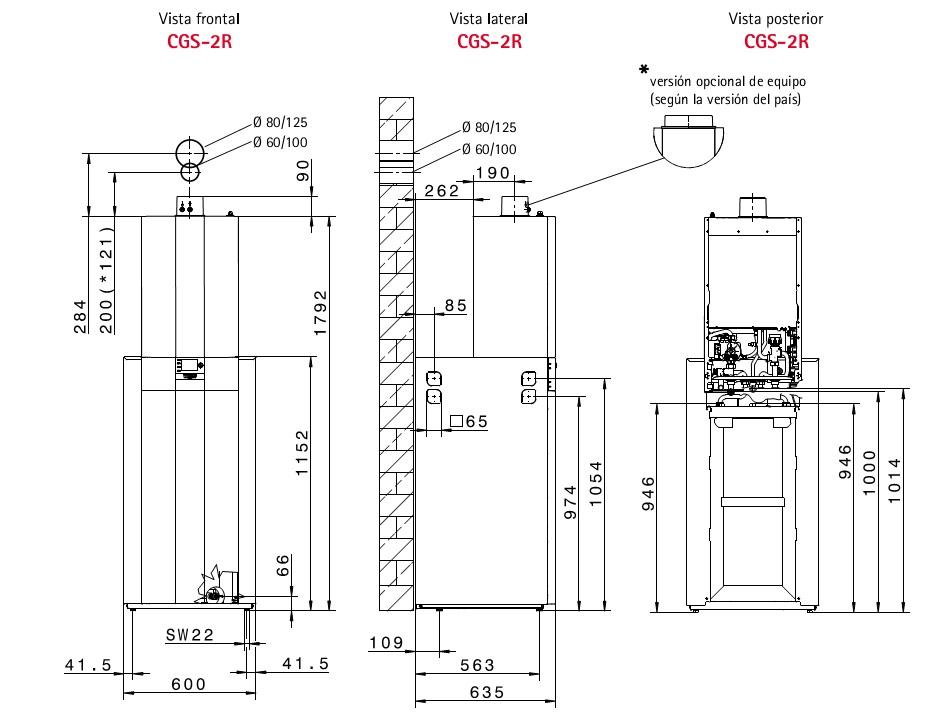 Caldera a gas de condensaci n de pie wolf cgs 2r 24 150r - Aerotermia opiniones ...