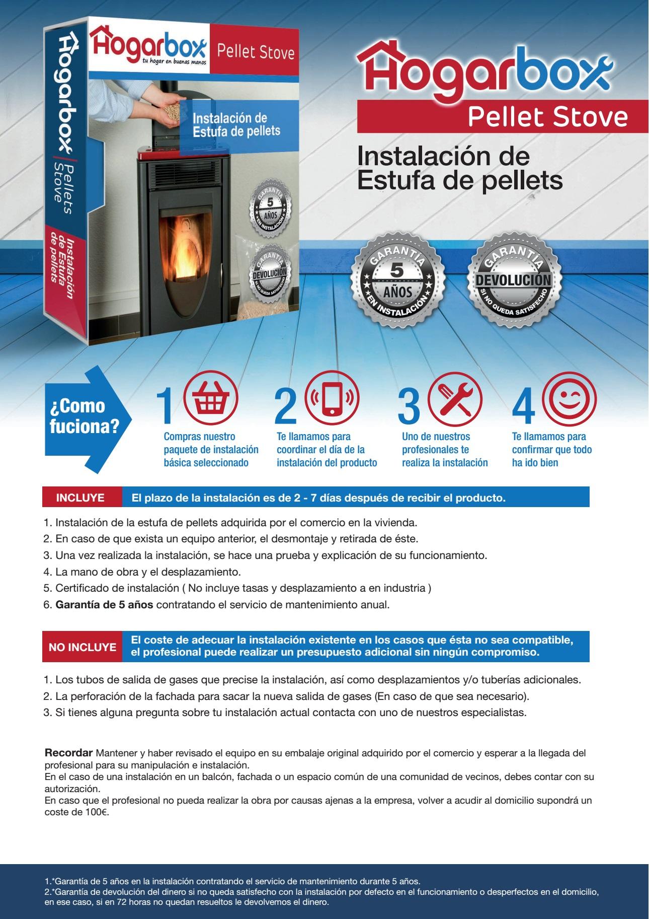 Hogarbox pellet stove instalaci n de estufa de pellets - Instalacion de estufas de pellets ...