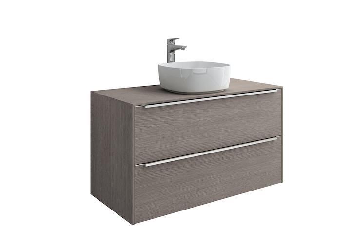 Mueble base roca inspira para lavabo sobre encimera 1000 mm for Mueble para encimera