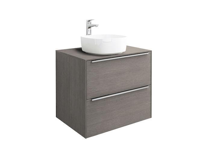 Mueble base roca inspira para lavabo sobre encimera 600 mm for Mueble bano lavabo sobre encimera
