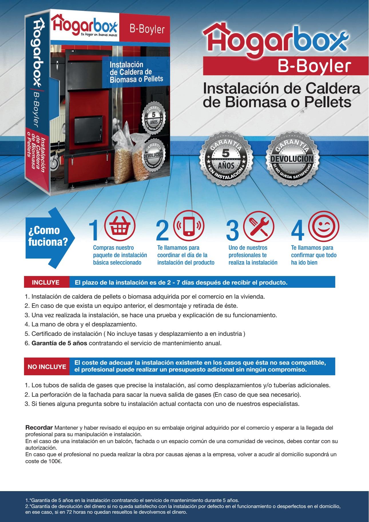 Hogarbox b boyler instalaci n caldera biomasa o pellet - Precio caldera pellets ...