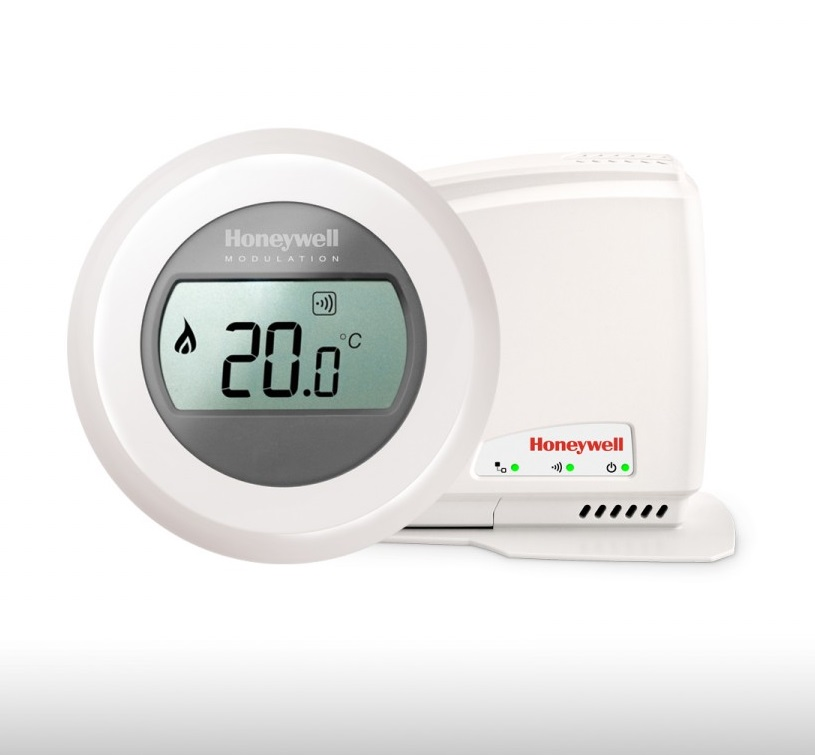 Termostato inal mbrico round connected honeywell y87rf2058 - Termostato inalambrico caldera ...