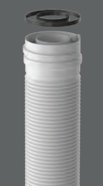 tubo flexible coaxial de polipropileno 60 100 fig