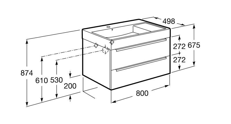Unik mueble base y lavabo roca inspira 800 mm for Mueble inspira roca